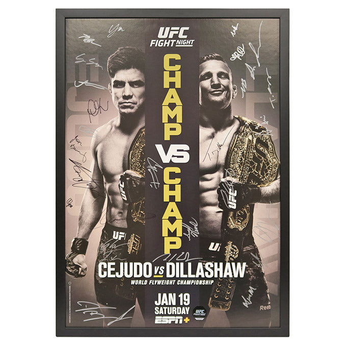 UFC Fight Night 143: Cejudo vs. Dillashaw - Framed and Autographed Event Poster