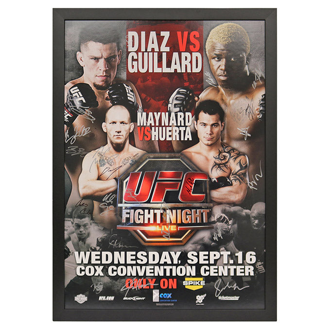 UFC Fight Night 19: Diaz vs. Guillard - Framed and Autographed Event Poster