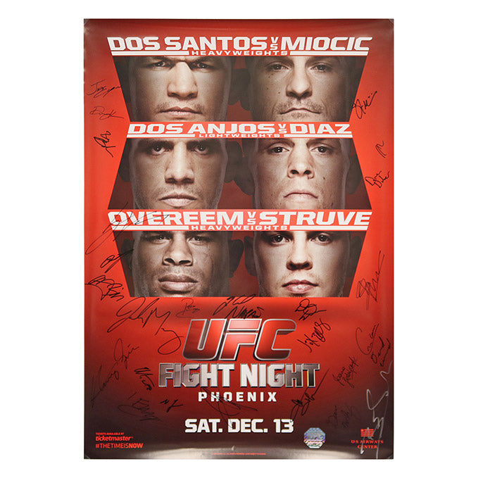 UFC on Fox 13 - Phoenix (dos Santos vs. Miocic) Autographed Event Poster