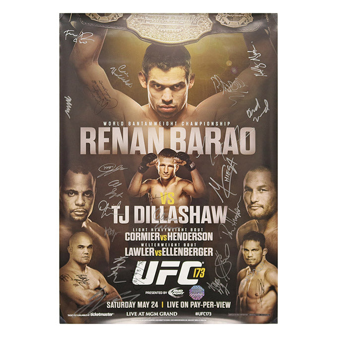 UFC 173 (Barao vs. Dillashaw) Autographed Event Poster