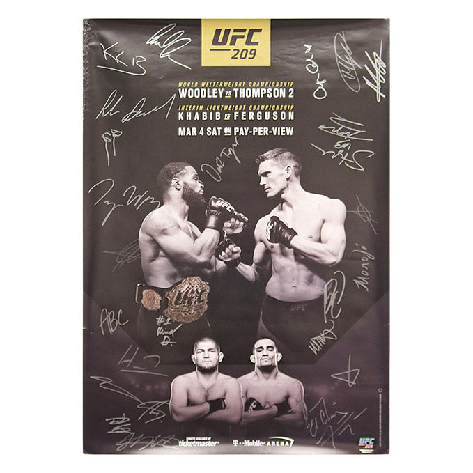 UFC 209 (Woodley vs. Thompson 2) Autographed Event Poster