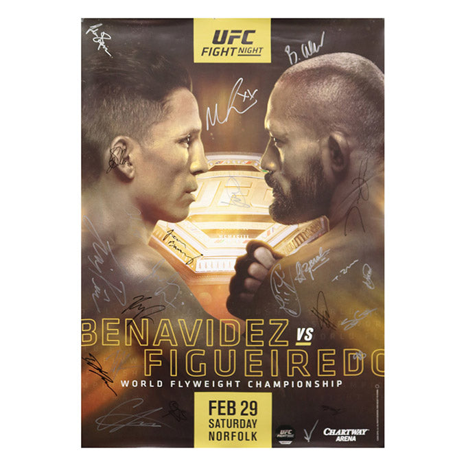 UFC Fight Night 169 - Norfolk (Benavidez vs. Figueiredo) Autographed Event Poster