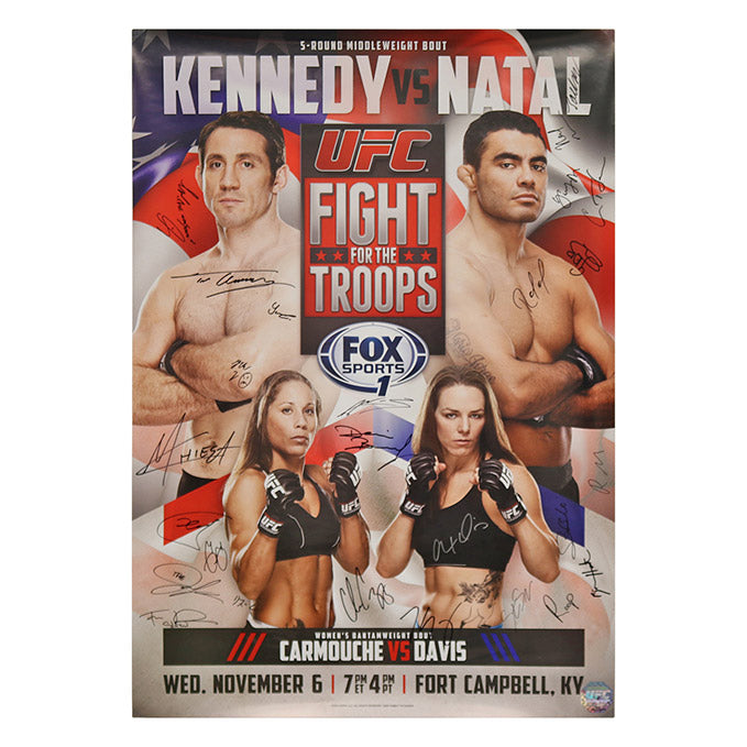 UFC Fight Night 31 - Fight for the Troops: Fort Campbell (Kennedy vs. Natal) Autographed Event Poster