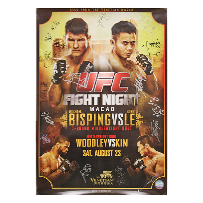 UFC Fight Night 48 - Macau (Bisping vs. Le) Autographed Event Poster