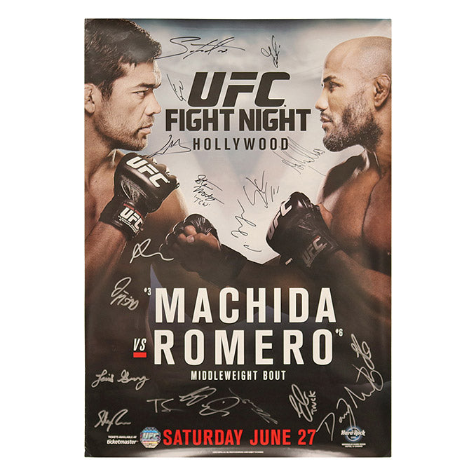 UFC Fight Night 70 - Florida (Machida vs. Romero) Autographed Event Poster