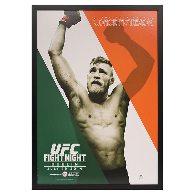 UFC Fight Night Dublin: Specialized Conor McGregor Framed Autographed Poster