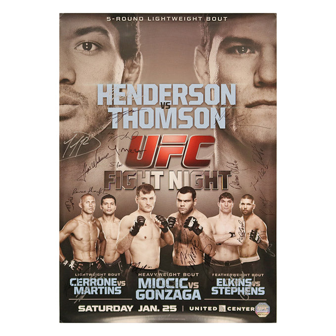 UFC on Fox 10 - Chicago (Henderson vs. Thomson) Autographed Event Poster