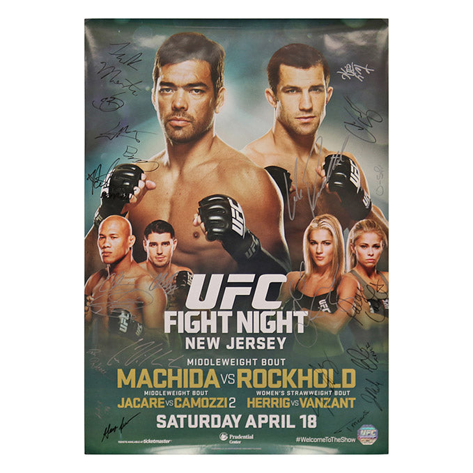 UFC on Fox 15 - Newark (Machida vs. Rockhold) Autographed Event Poster