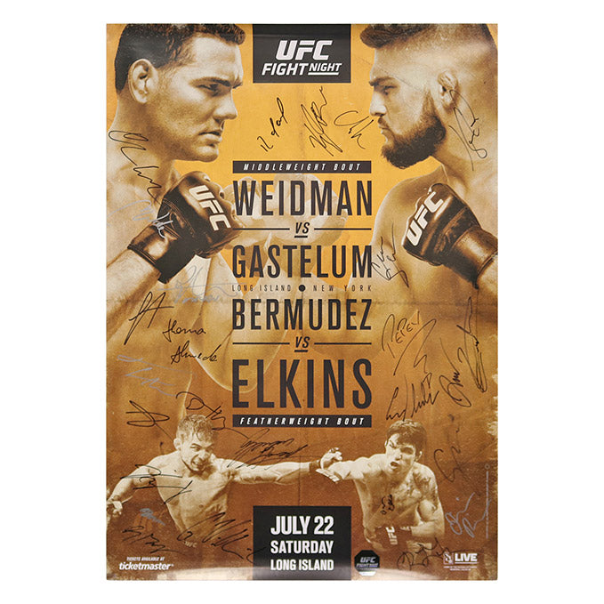 UFC on FOX 25 - Long Island (Weidman vs. Gastelum) Autographed Event Poster