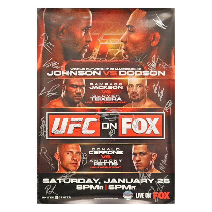 UFC ON FOX 6 - Chicago (Johnson vs. Dodson) Autographed Event Poster