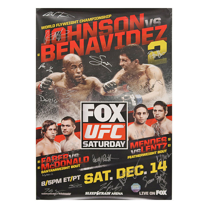 UFC ON FOX 9 - Sacramento (Johnson vs. Benavidez 2) Autographed Event Poster