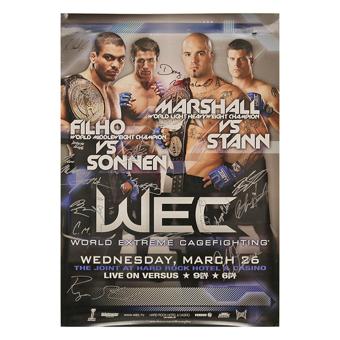 WEC 33 - Las Vegas (Marshall vs. Stann) Autographed Event Poster