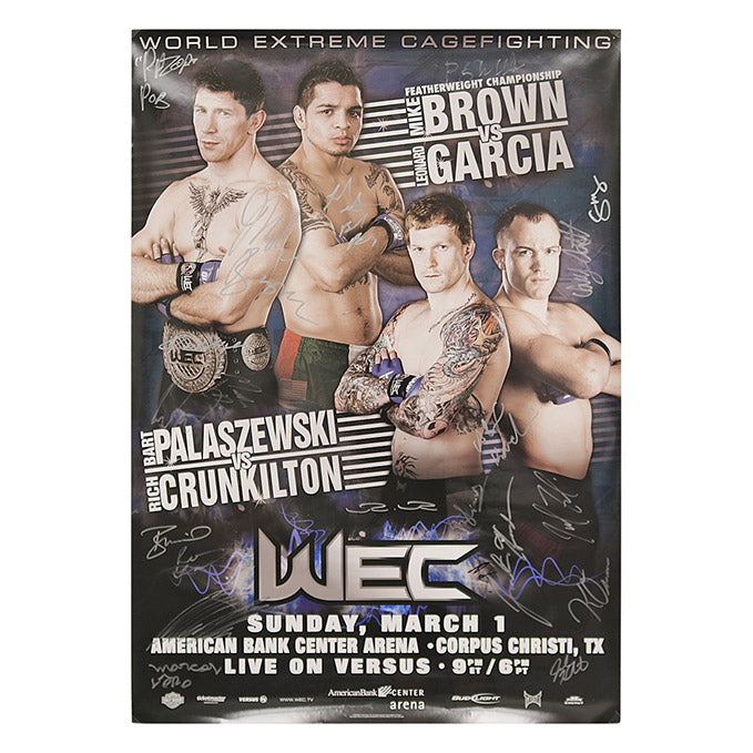 WEC 39 - Corpus Christi (Brown vs. Garcia) Autographed Event Poster