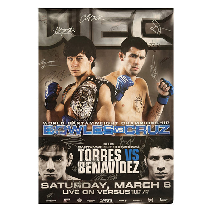 WEC 47 (Bowles vs. Cruz) Autographed Event Poster