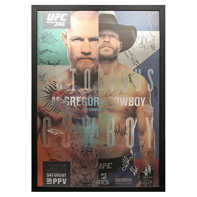 UFC 246: McGregor vs. Cowboy - Framed and Autographed Event Poster