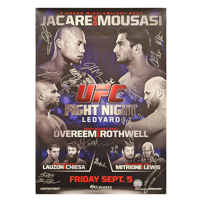 UFC Fight Night 50 - Connecticut (Jacare vs. Mousasi) Autographed Event Poster