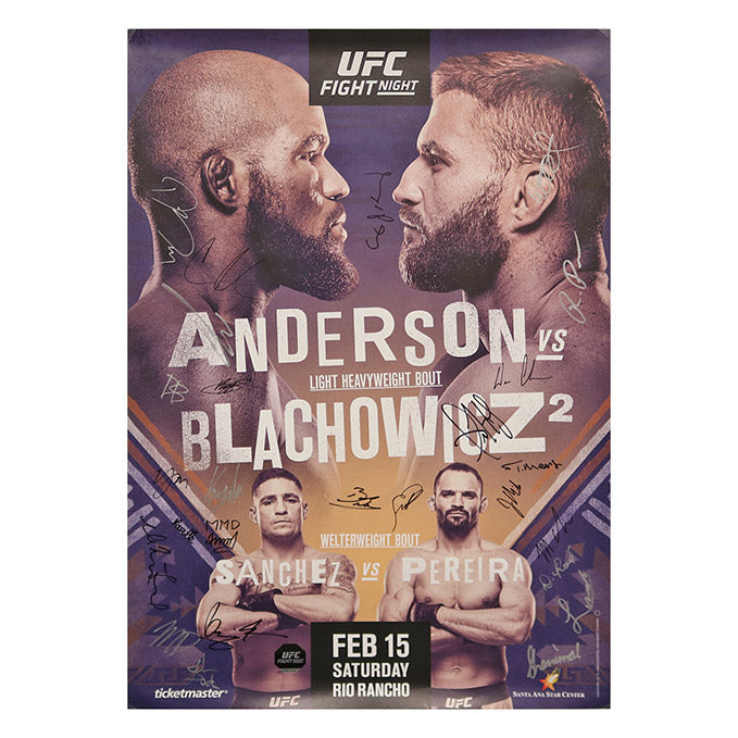 UFC Fight Night 167 - Rio Rancho (Anderson vs. Blachowicz 2) Autographed Event Poster