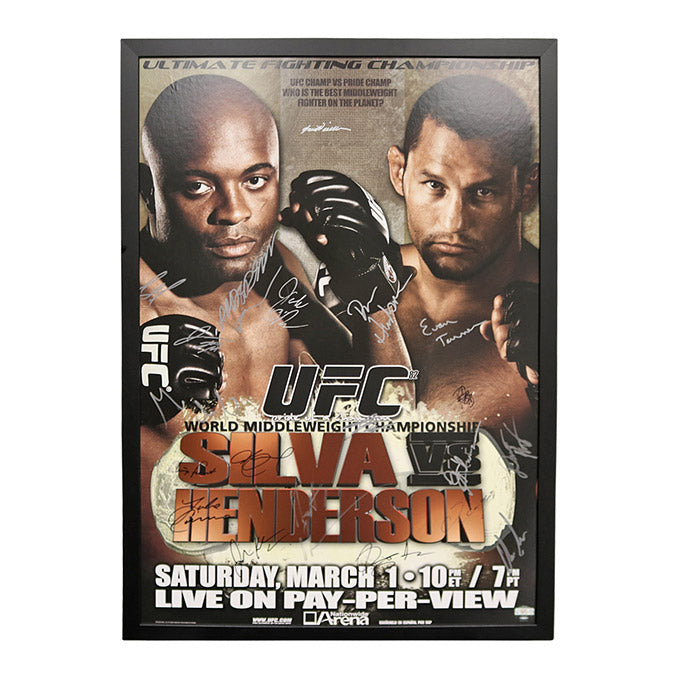 UFC 82: Pride of a Champion - Autographed and Framed Event Poster - March 1, 2008, Columbus, Ohio