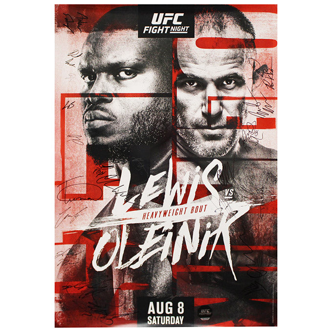 UFC Fight Night Lewis vs. Oleinik Autographed Event Poster