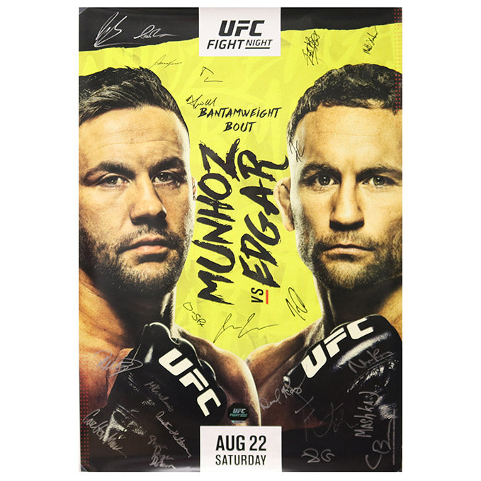 UFC Fight Night Munhoz vs Edgar Autographed Event Poster