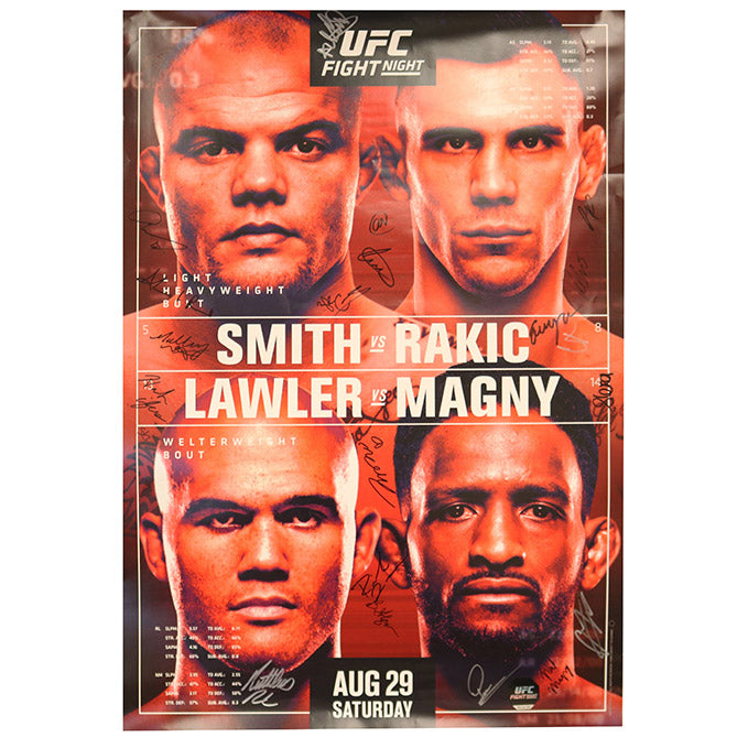 UFC Fight Night Smith vs. Rakic Autographed Event Poster