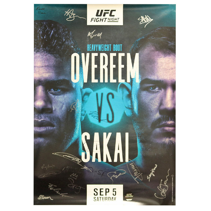 UFC Fight Night Overeem vs. Sakai Autographed Event Poster