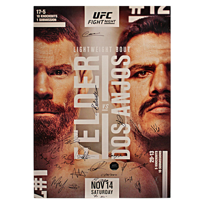 Fight Night Felder vs. Dos Anjos Autographed Event Poster