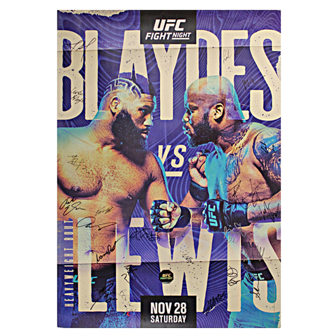 Fight Night Blaydes vs. Lewis Autographed Event Poster