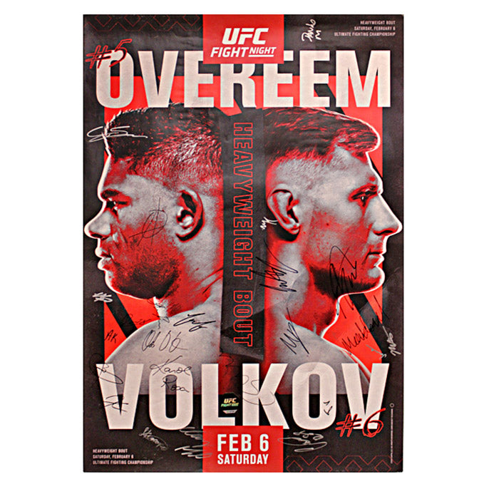 UFC Fight Night:  Overeem vs. Volkov Autographed Event Poster