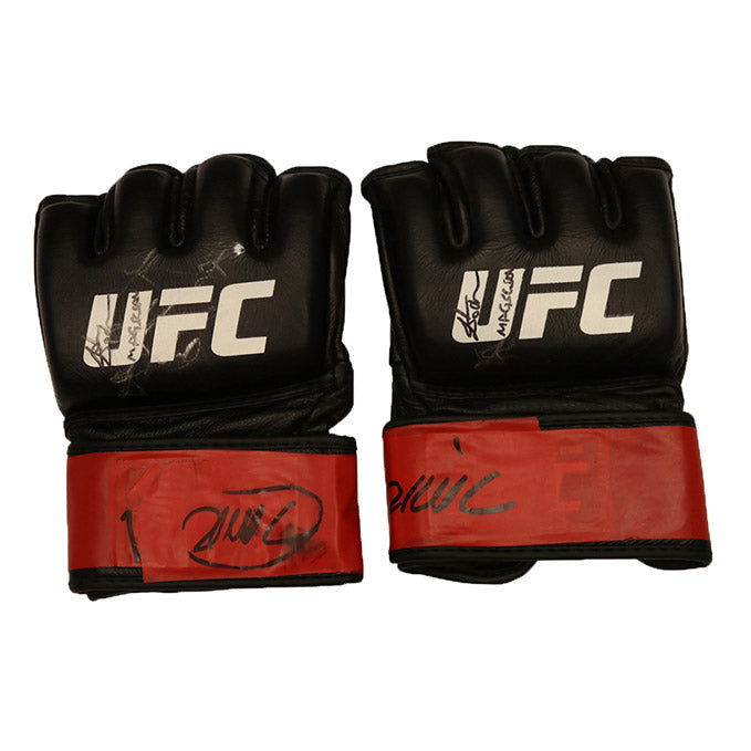 "John Dodson Autographed Fight Worn Gloves, Inscribed ""The Magician"" from Fight Night 108 - Nashville"