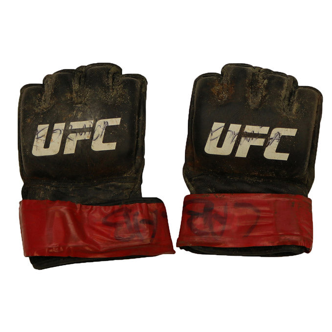 Jussier Formiga Autographed Fight Worn Gloves from Fight Night 106 - Fortaleza