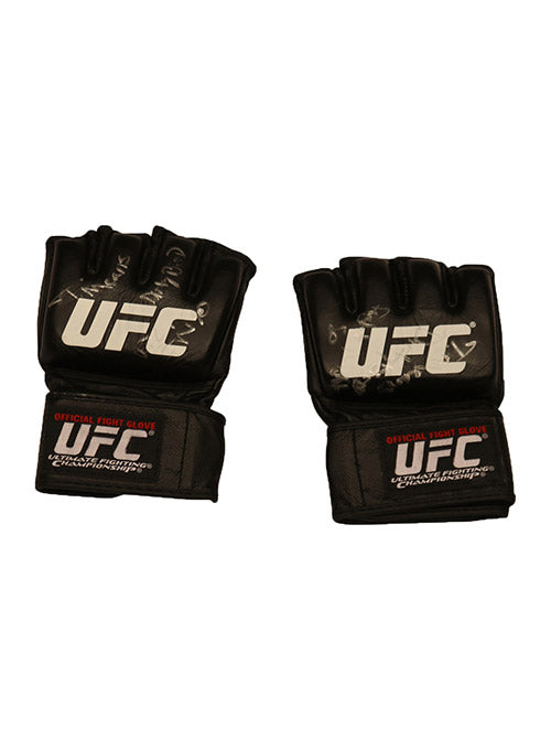 "Tim Means Autographed Fight Worn Gloves, Inscribed ""Dirty Bird"", from Fight Night 80 - Las Vegas"