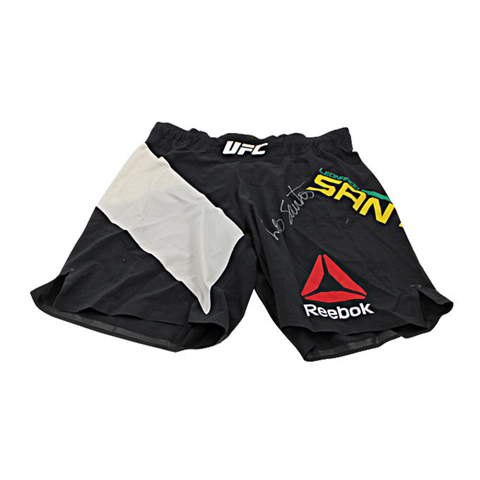 Leonardo Santos Autographed Fight Worn Shorts from UFC 194: Aldo vs McGregor