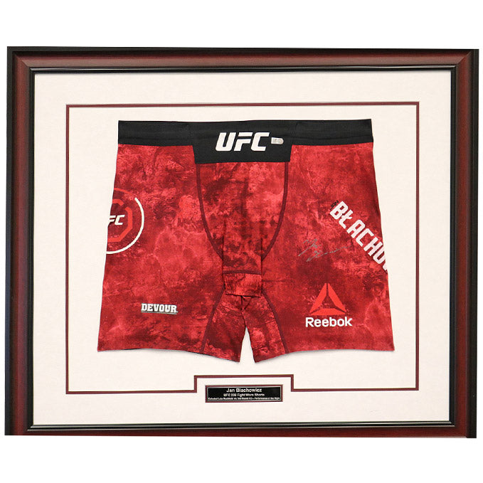 Jan Blachowicz Autographed and Framed Fight Worn Shorts from UFC 239 in Las Vegas, Nevada
