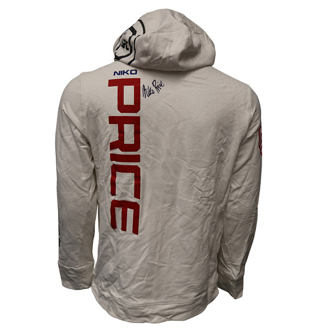 Niko Price Autographed Event Worn Hoodie from Fight Night 133 - Boise