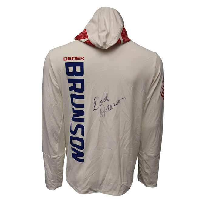 Derek Brunson Autographed Event Worn Hoodie from Fight Night 83 - Pittsburgh