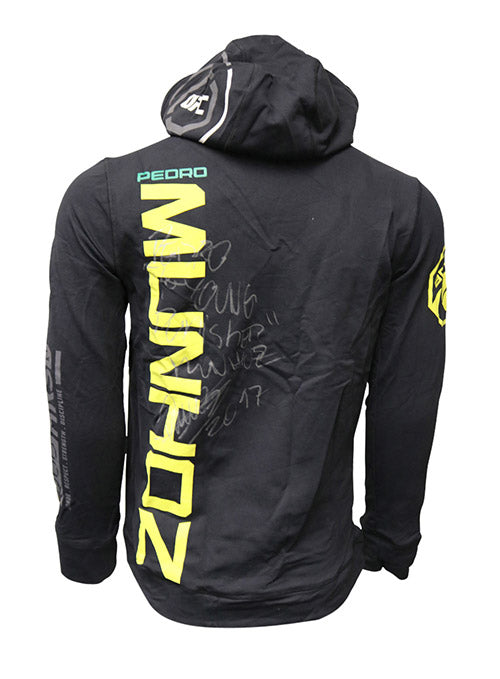 "Pedro Munhoz Autographed Event Worn Hoodie, Inscribed ""The Young Punisher"", from Fight Night 119 - Sao Paulo"