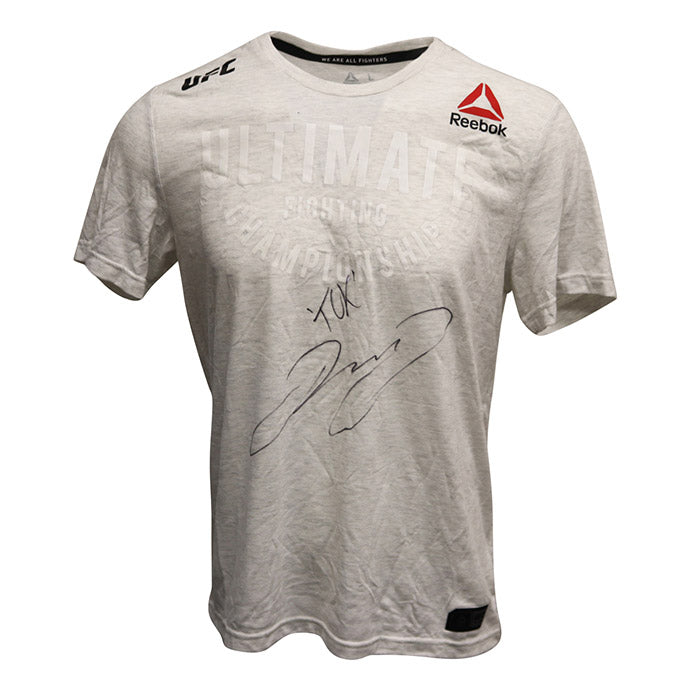 "Jake Matthews Autographed Event Worn Jersey, Inscribed ""TCK"" from UFC Fight Night 132 - Singapore"