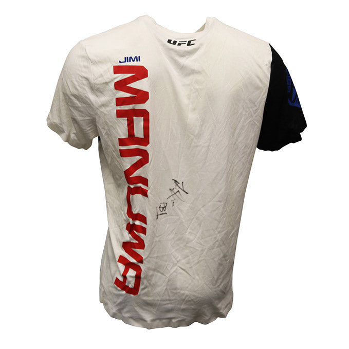 "Jimi Manuwa Autographed Event Worn Jersey, Inscribed ""PB1"" from UFC 204"