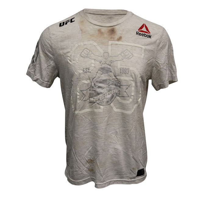 Nasrat Haqparast Autographed Event Worn Jersey from UFC Fight Night 138 - Moncton