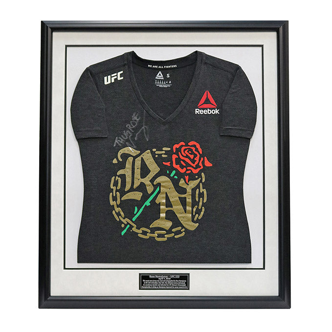 Rose Namajunas Autographed and Framed Event Worn Jersey from UFC 223 in Brooklyn, New York