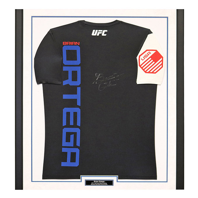 Brian Ortega Autographed and Framed Event Worn Jersey from UFC 199 in Inglewood, California