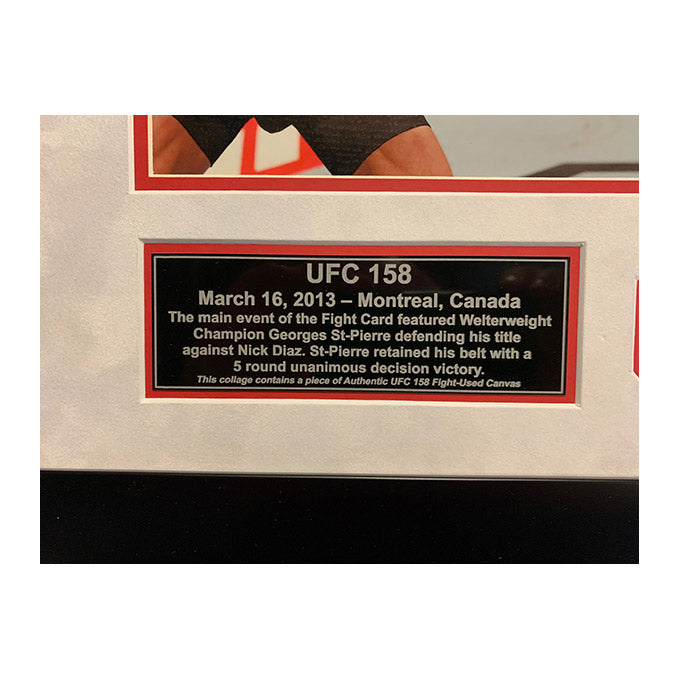 UFC 158 Fight Used Octagon Framed Collage