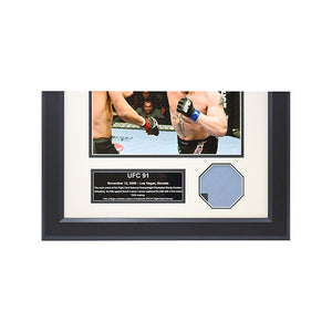 UFC 91 Fight Used Octagon Framed Collage
