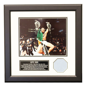UFC 205 Fight Used Octagon Framed Collage