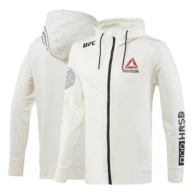 Custom Men's Reebok Chalk UFC Fight Night Walkout Hoodie Replica
