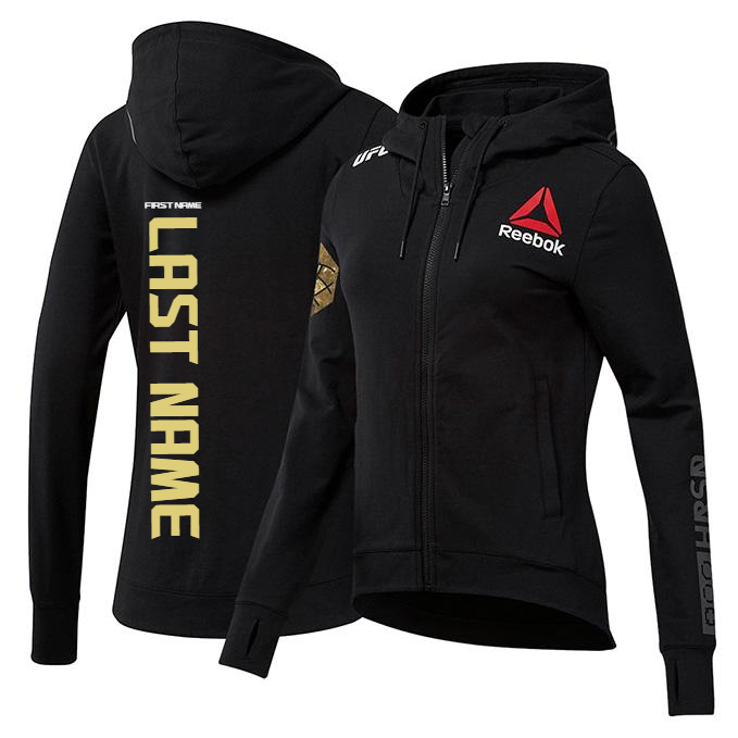 Custom Women's Reebok Champion UFC Fight Night Walkout Hoodie Replica