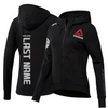 Custom Women's Reebok Black UFC Fight Night Walkout Hoodie Replica