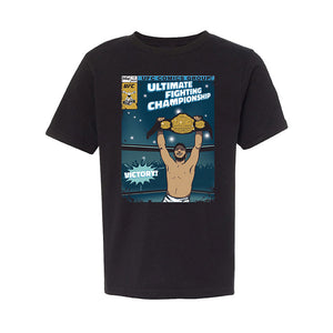 Kids' UFC Comic T-Shirt - Black