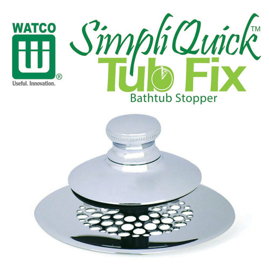 Watco SimpliQuick® Tub Fix Push Pull Bathtub Stopper